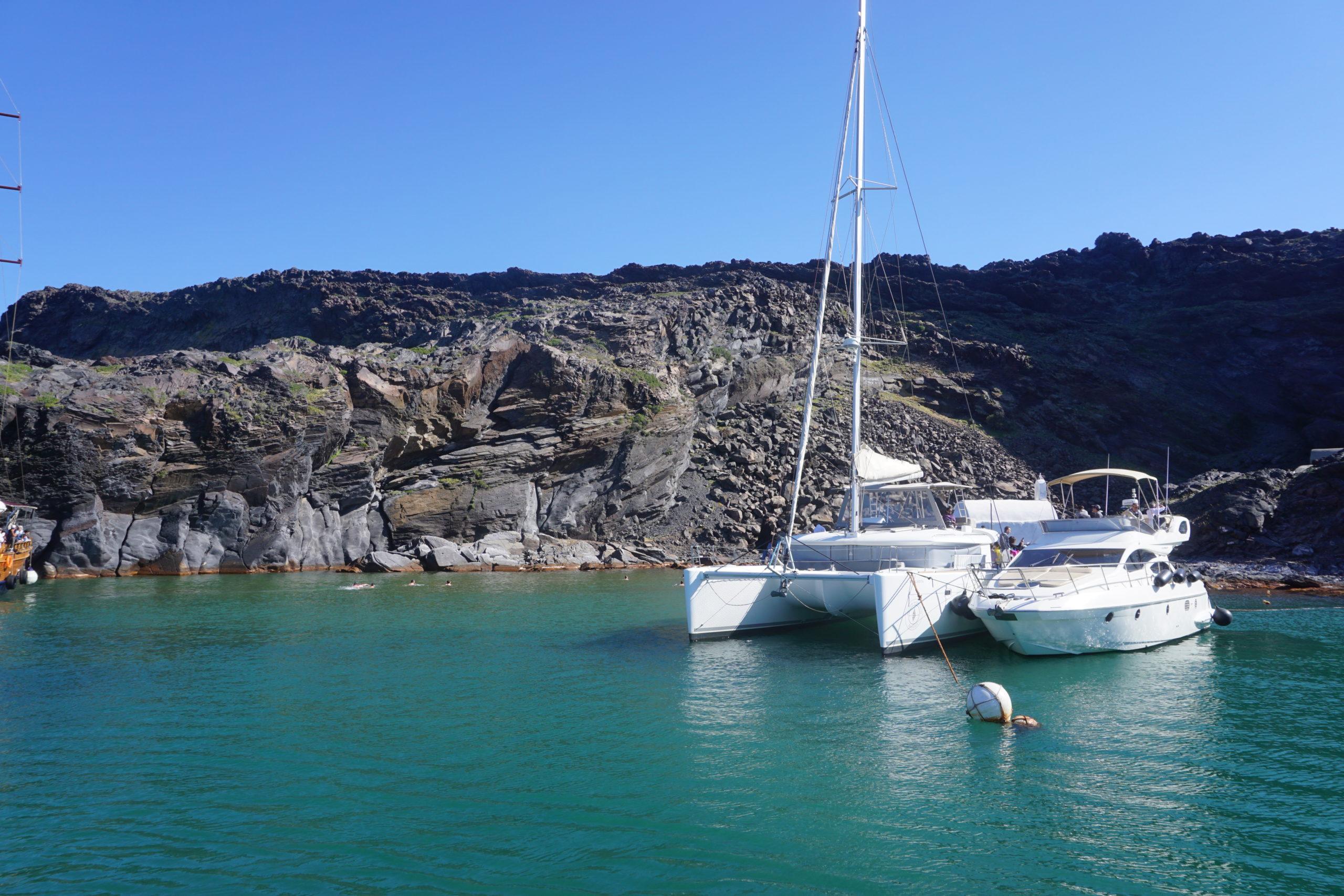 Badestopp Santorini