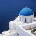 uen Kuppeldächer von Santorini