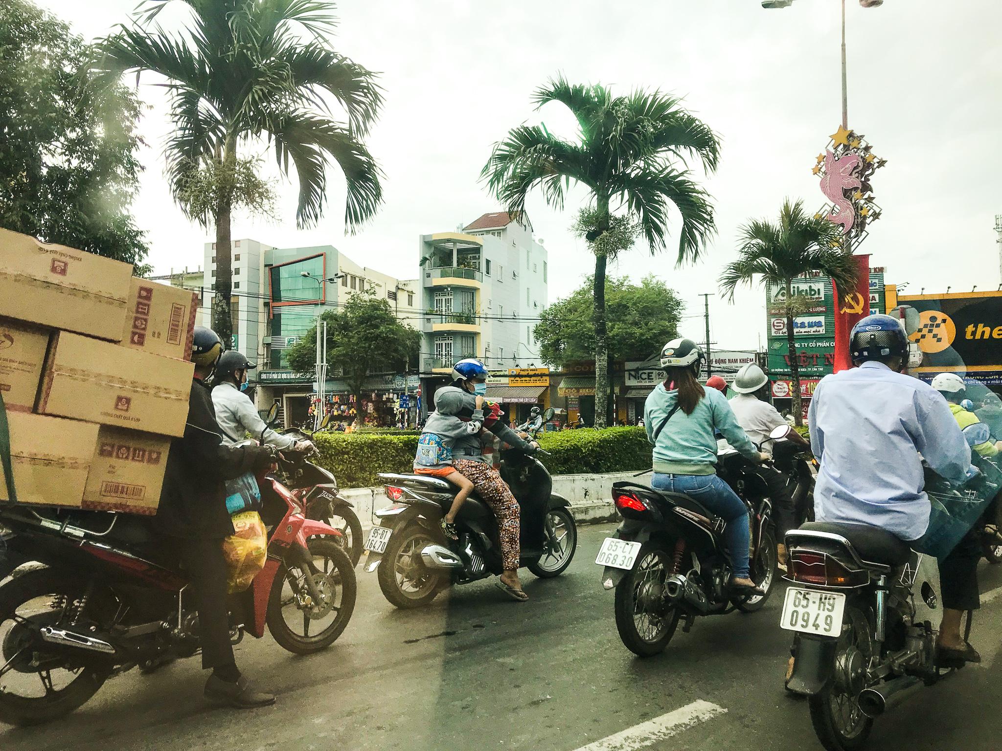 Verkehrschaos Ho Chi Minh