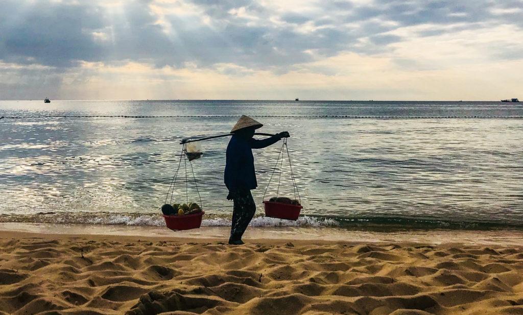 Strandverkäufer Vietnam
