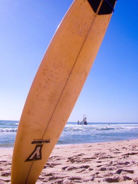 Surfboard am Strand Cottesloe Beach